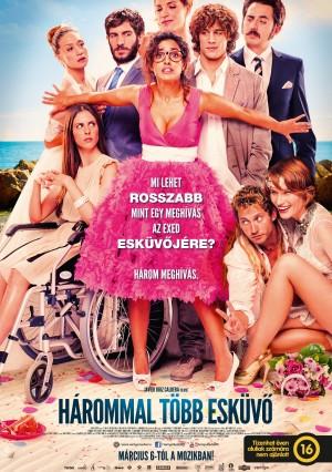 Hárommal több esküvő, mozi poszter