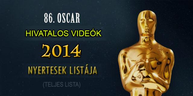 86. Oscar-gála 2014: videók a nyertesekről, 1. rész