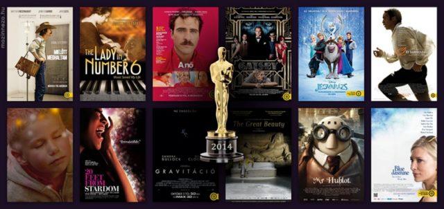 A 86. Oscar-gálán díjazott filmek az Oscar-díjak száma szerint