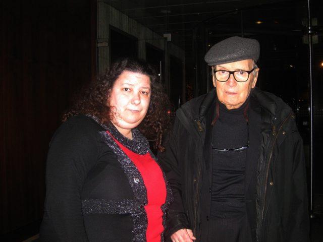 Közös fotó az Oscar-díjas Ennio Morricone zeneszerzővel