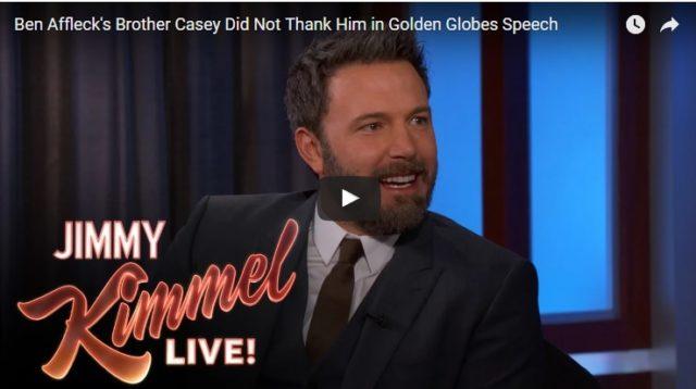 Ben Affleck Jimmy Kimmel talk showjában járt