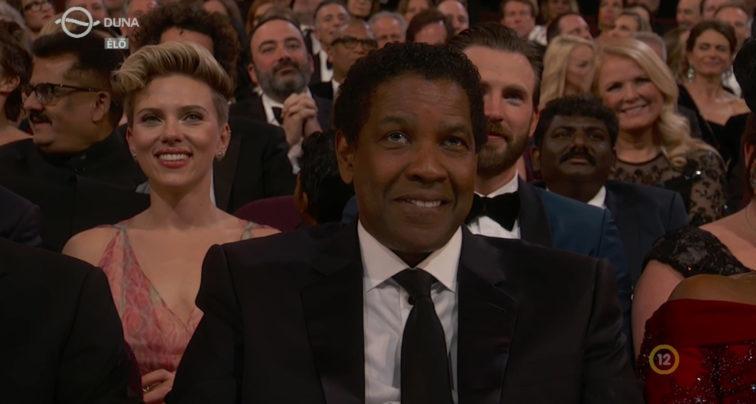 Denzel Washintgon az Oscar-gálán