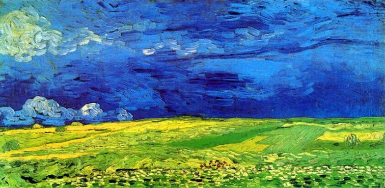 Van Gogh - Búzamezők és borús égbolt