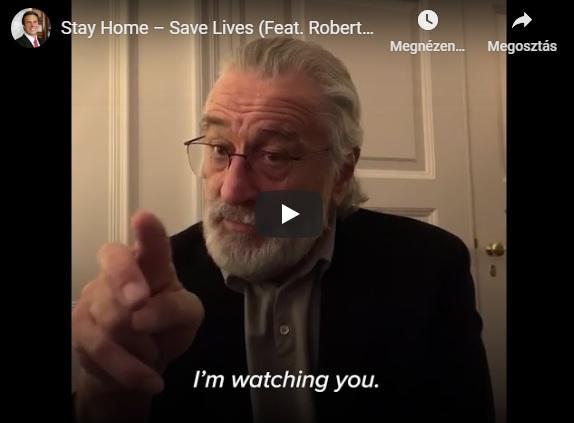Robert De Niro videó üzenete: Maradj otthon