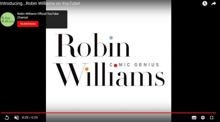 Robin Williams önálló YouTube-csatornája