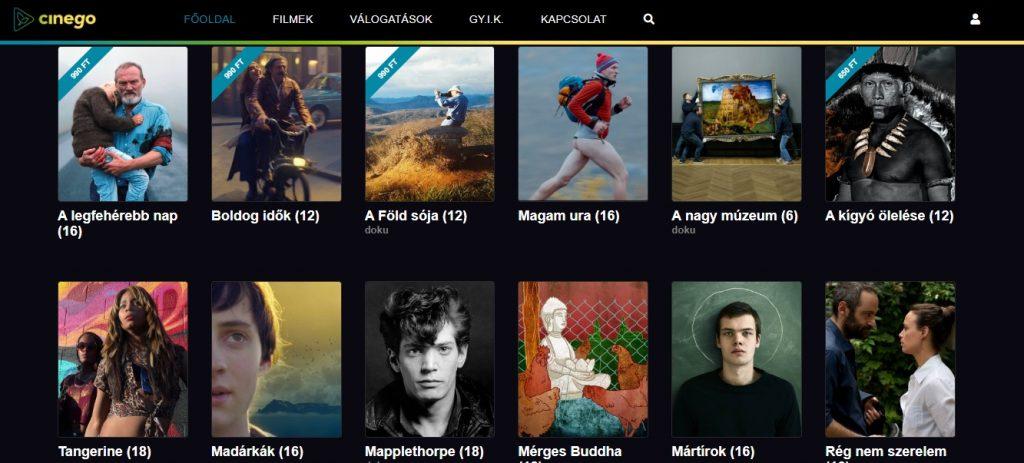 Elindult a Cinego – online videotéka Magyarországon